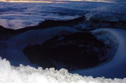 The crater