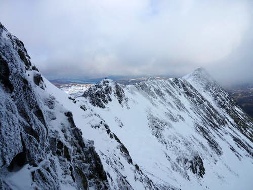 Striding edge seen from Nethermost gully