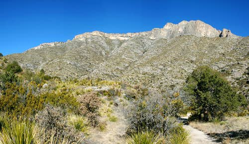 Wilderness Ridge from McKittrick Canyon