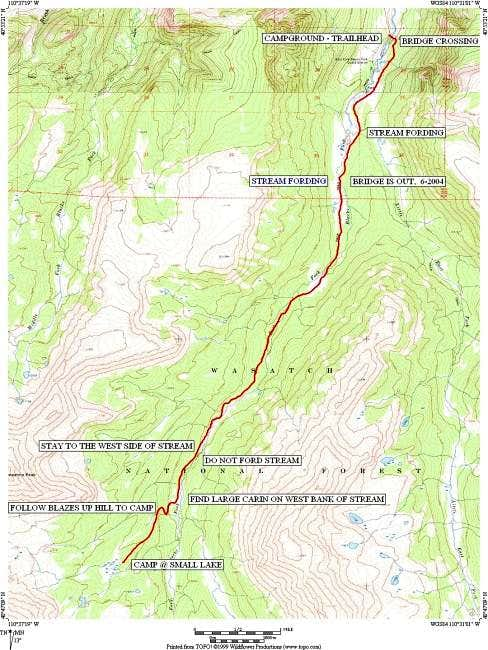 24K quad based route map from...