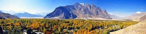 A Panoramic View of Shigar Valley