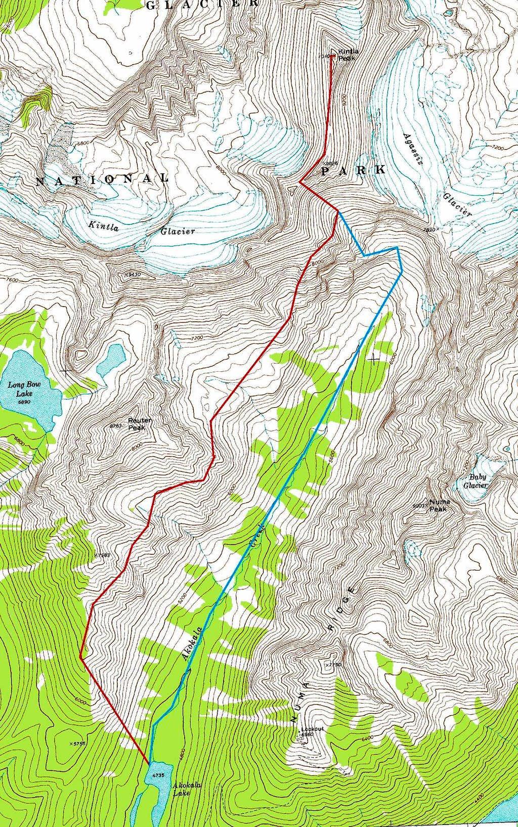 Kintla route
