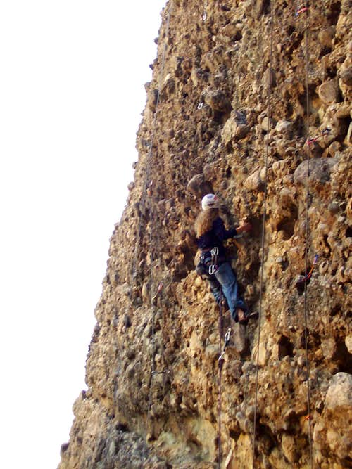 climbing on Albawi