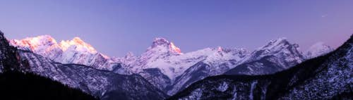 Sunset on Friulian Dolomites