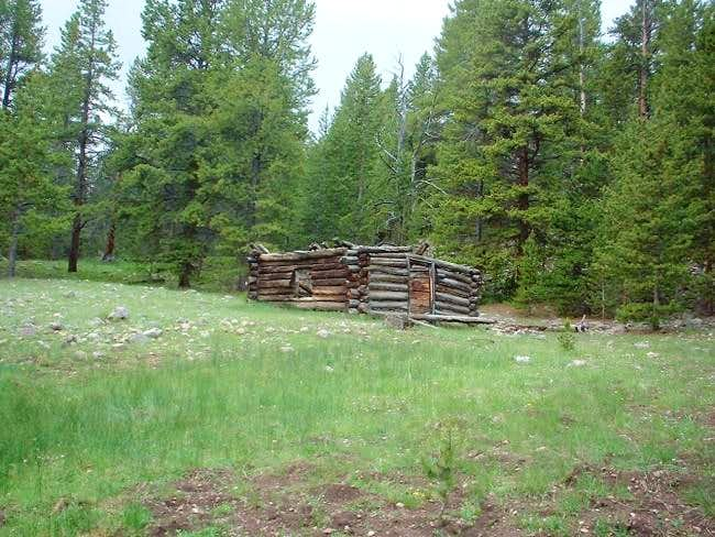 Old log cabin at approx....