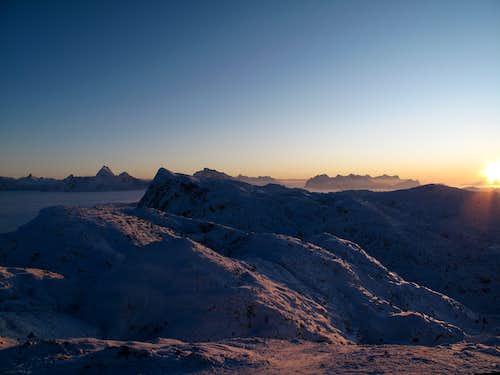 Sunset on the Untersberg