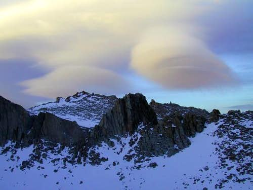 Lenticular cloud formations...