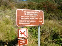 Chumash Trailhead Sign