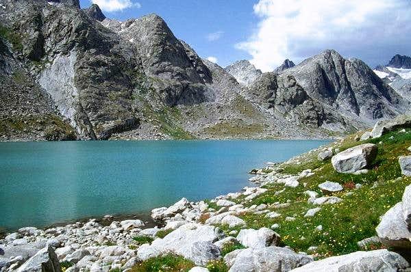 The upper Titcomb Lake.
