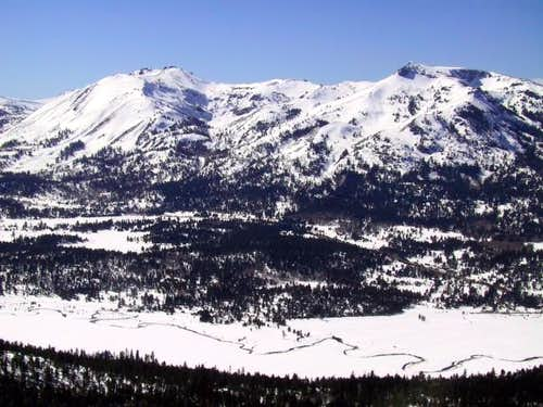 Red Lake Peak (left) and...