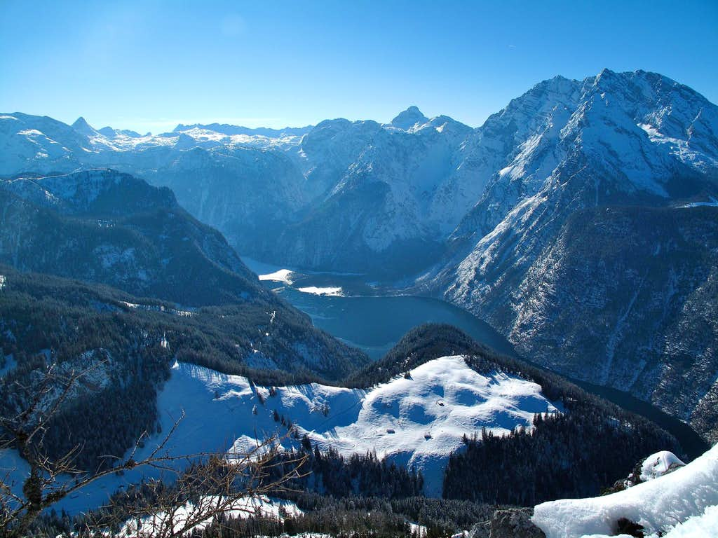 The Königssee and the Berchtesgaden Alps in winter