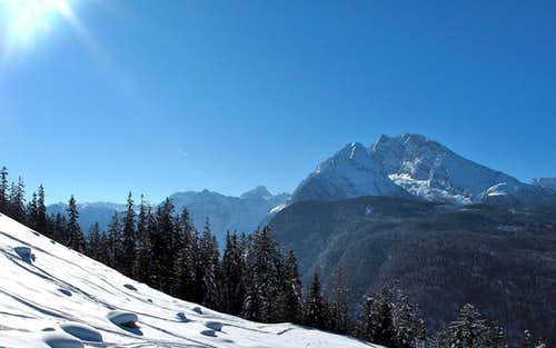 View to the Watzmann (2713m) with its east wall