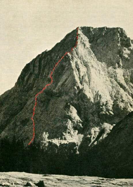 Hochwand seen from the Gaiss...