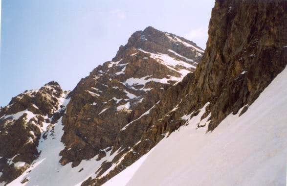 Peak C from a couloir at the...