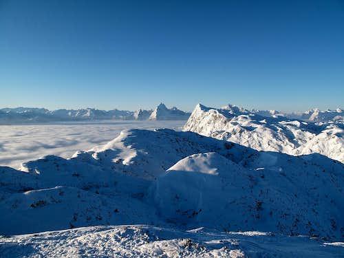 Arctic view of the Berchtesgaden Alps