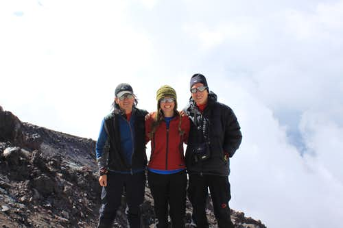 3 SPers at Cotopaxi refuge