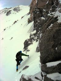 Tom beginning the Molar Traverse on Sargents Ridge