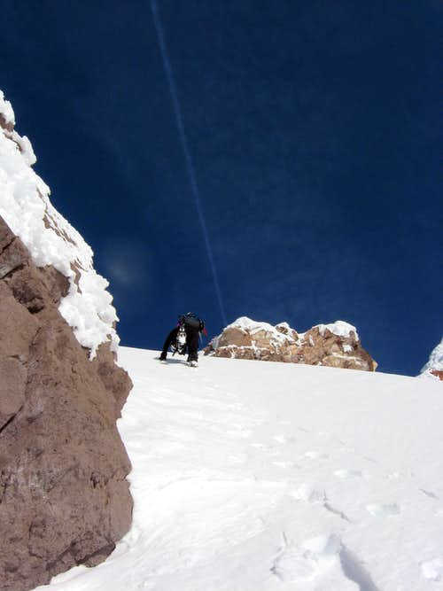 Exiting Sargents Traverse
