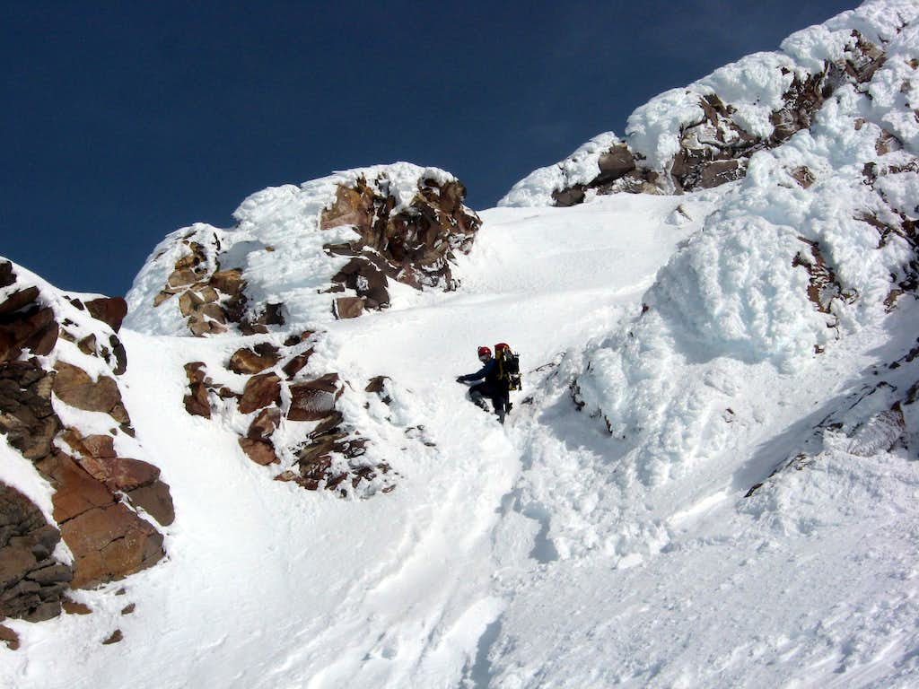 Climbing the Runnel Pitch