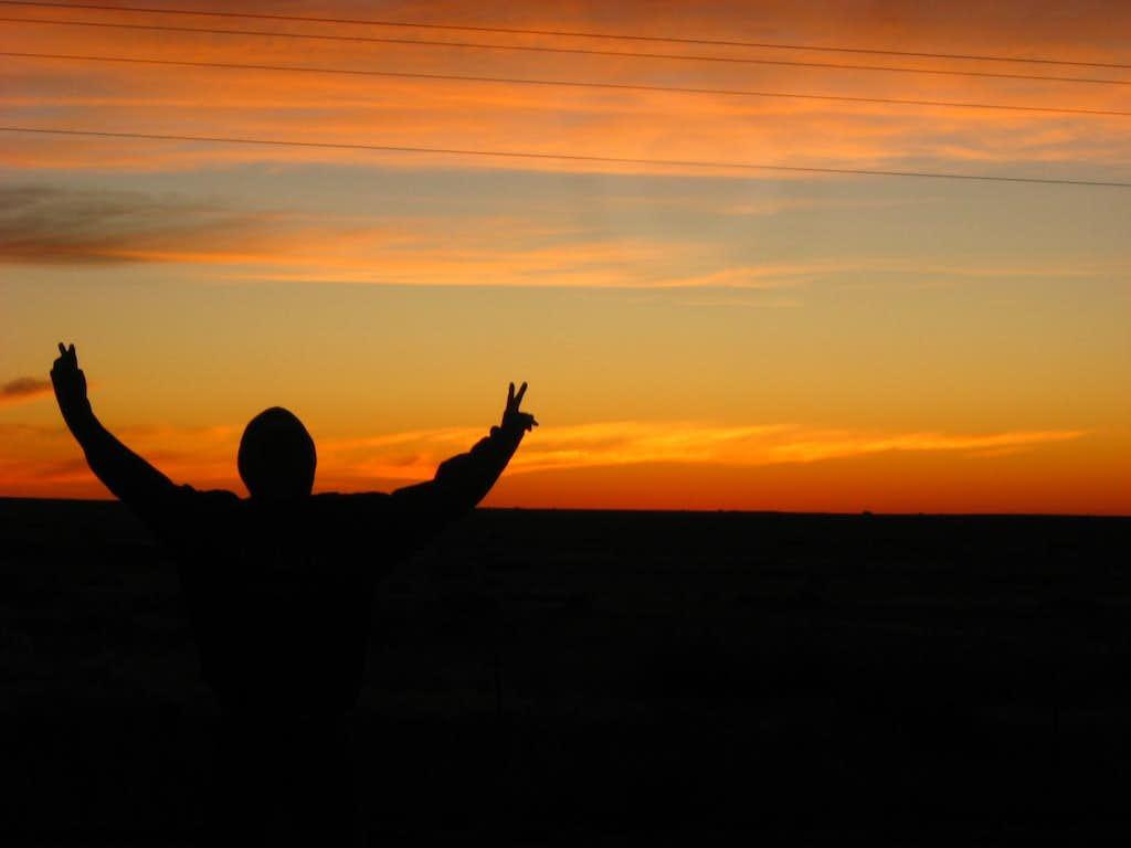 Sunrise before Black Mesa