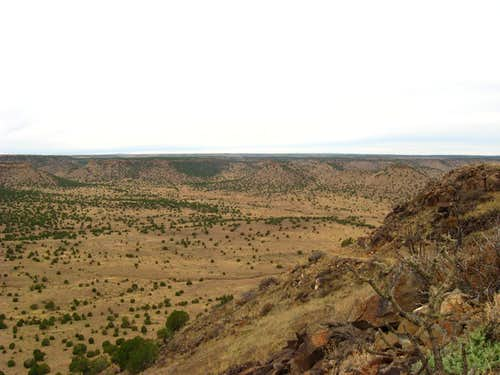 hiking up Black Mesa