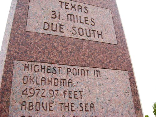 highest point in oklahoma