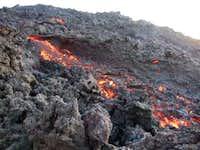 pacaya flowing lava