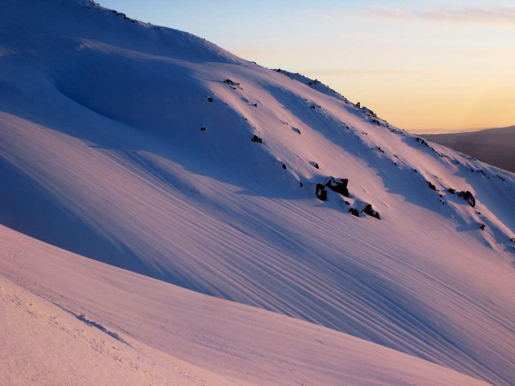 Wind-scoured slopes of St. Helens