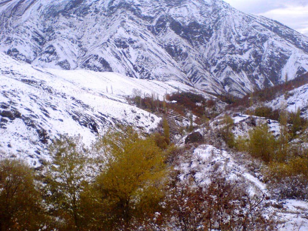 sangan waterfall area in december