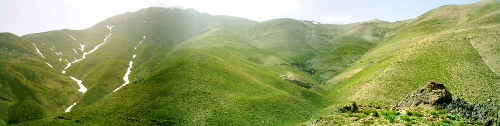 panorama fram pahne hesar peak
