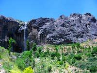 sangan waterfall in spring