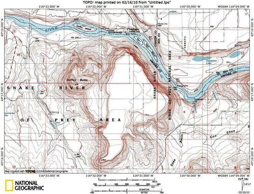 Guffey Butte Map