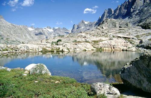 A pond in the Titcomb Basin.