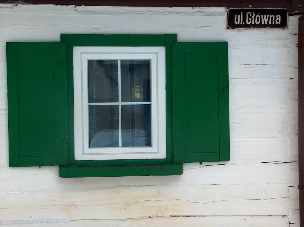 In Sokolowsko, window
