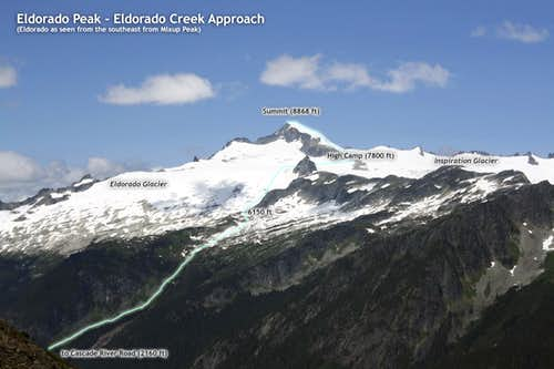 Eldorado Creek route overlay