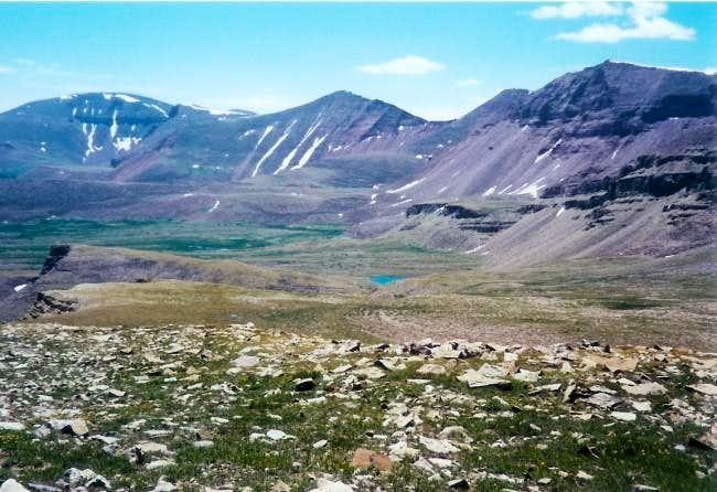 Mt. Emmons (far left), July...
