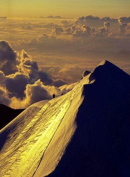 Climbing the Signal ridge on...