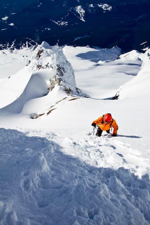 Isaac Climbing the Chute