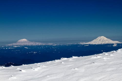 Mt. Rainier and Mt. Adams