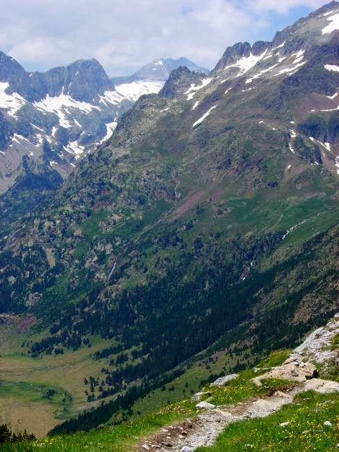 The peak of Perdiguero in the...