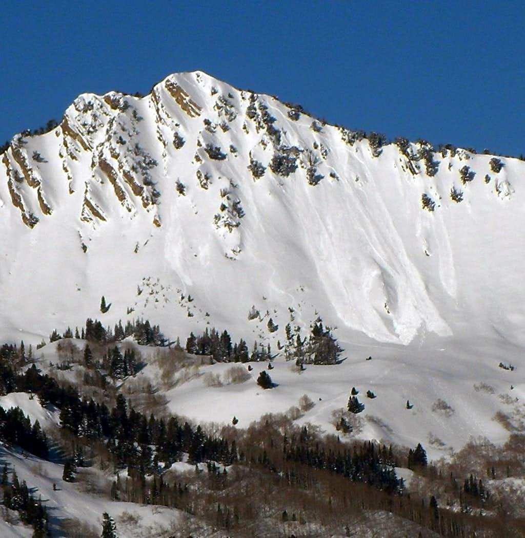 Avalanche on Mount Raymond