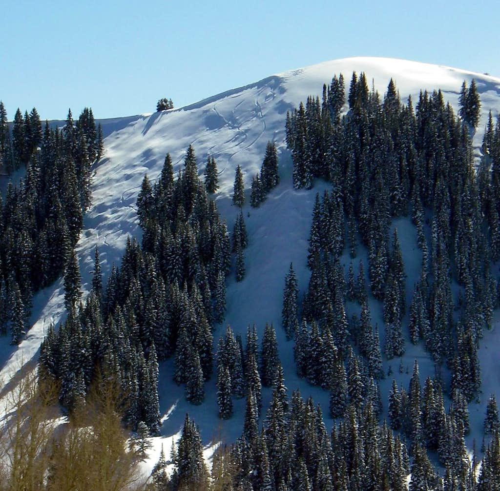 An avalanche on the Desolation Chutes