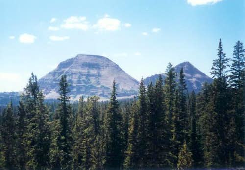 Bald Mountain (left), Uintas....