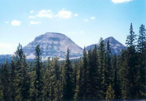 Bald Mountain (left), Uintas....