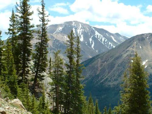 7/5/04: View of Mount Elbert...
