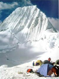 Alpamayo from the Col Camp
