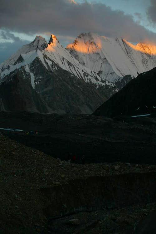Alpine Glow on the Gasherbrum Peaks