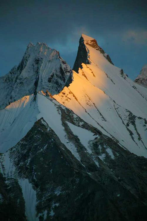 Alpine Glow on the Gasherbrum Peaks