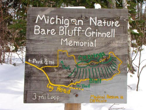 Trail sign/map