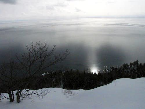 Sun reflecting off Lake Superior